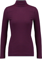 Petit Bateau Striped cotton rib-knit turtleneck top