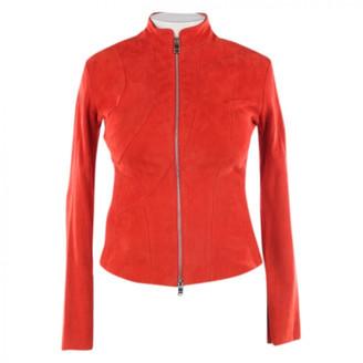 Jitrois Orange Leather Jackets