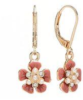 Lauren Conrad simulated crystal & simulated pearl floral drop earrings