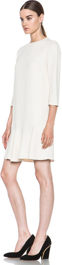 Chloé Acetate-Blend Crepe Sable Dress in Cream