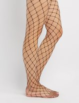 Charlotte Russe Exploded Fishnet Tights