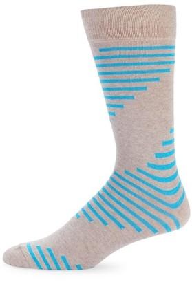 Saks Fifth Avenue Spiral Crew Socks