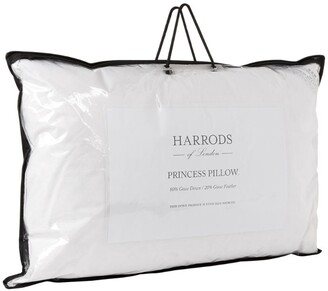 Harrods 90% Goose Down Standard Princess Pillow (50cm x 70cm)