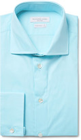 Richard James - Blue Cutaway-collar Cotton-poplin Shirt