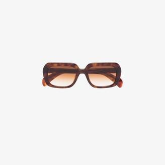 Chimi Brown Voyage square tortoiseshell sunglasses