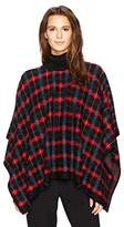 Anne Klein Women's Plaid Poncho