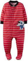 Carter's Toddler Boy Embroidered Print Footed Pajamas