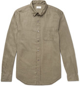 Club Monaco Button-down Collar Linen Shirt - Green
