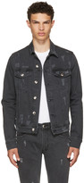 Versus Black Zayn Edition Distressed Denim Jacket