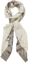 "Christian Dior Floral Silk & Cashmere Long Scarf, 78"" x 39"""