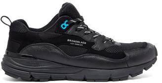 Brandblack Nomo Vibram Sole Leather And Mesh Trainers - Mens - Black