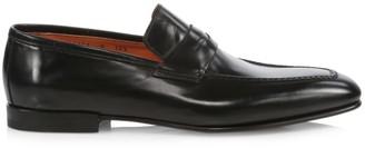 Santoni Bologna Leather Penny Loafers