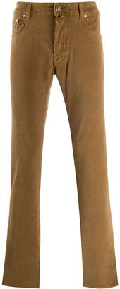 Jacob Cohen straight-leg ribbed trousers
