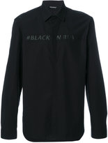 Neil Barrett #BlackOnBlack shirt - men - Cotton - 38