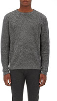 Barneys New York Men's Cashmere Thermal-Stitched Sweater-BLACK
