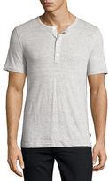 Michael Kors Linen-Cotton Short-Sleeve Henley T-Shirt