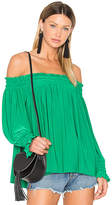 Norma Kamali Peasant Top in Green. - size XS (also in )