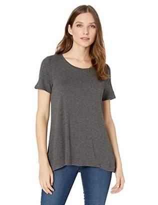Amazon Essentials Patterned Short-Sleeve Scoopneck Swing Tee Shirt
