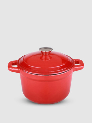 Berghoff Neo 3QT Cast Iron Round Covered Dutch Oven, Red