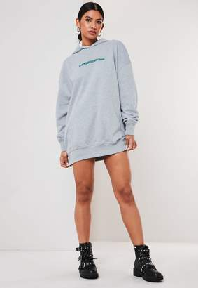 Missguided Tall Grey Oversized Everything Hoodie