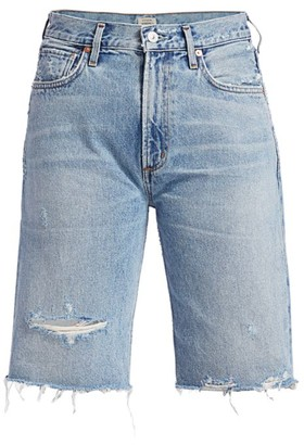 Citizens of Humanity Libby Relaxed Distressed Denim Shorts