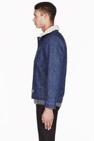A.P.C. Indigo denim & shearling Carhartt edition Bristol jacket