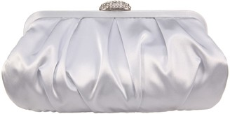 Nina Pleated Frame Clutch with Pave Clasp - Concord