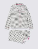 Marks and Spencer Pure Cotton Spotted Pyjamas (1-16 Years)