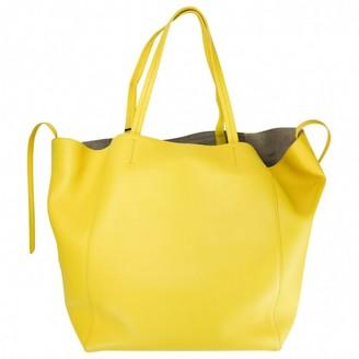 Celine Cabas Phantom Yellow Leather Handbags