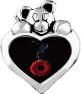 GiftJewelryShop Smoking Rising from Poppy Pin Topaz Crystal November Birthstone I Love You Heart Care Bear Charm