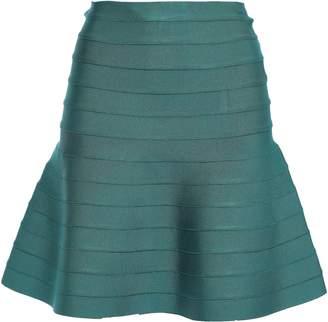 Herve Leger Cecilia Flared Bandage Mini Skirt