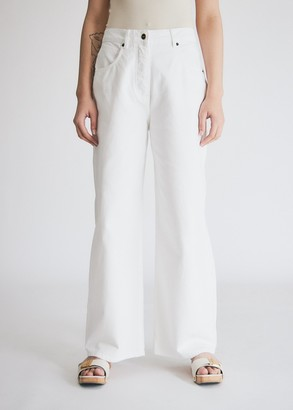 Jacquemus Women's Le Jean De Nimes in White, Size 28 | 100% Cotton
