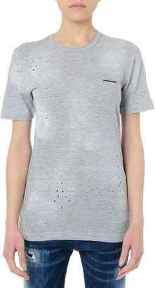 DSQUARED2 Grey Cotton T Shirt With Logo