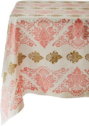 CABANA Printed Hand-Blocked Linen Tablecloth