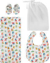 Cath Kidston Animal Alphabet Bib, Burping Cloth And Bootie Set