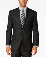 Sean John Men's Black Windowpane Classic-Fit Jacket
