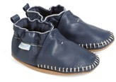 Robeez Toddler Boy's 'Classic Moccasin' Crib Shoe