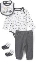 Buster Brown Gray & White Hedgehog Bodysuit Set - Infant