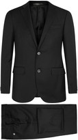 Corneliani Black Super 110's Wool Suit