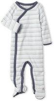 miniclasix (Newborn/Infant Boys) Stripe Knit Footie