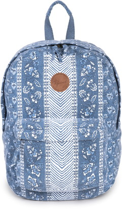Rip Curl Navy Floral Beach Canvas Backpack