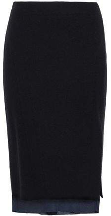 Rag & Bone Layered Ribbed Merino Wool-Blend Skirt