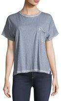 Rag & Bone Crewneck Short-Sleeve Vintage Shirt w/ Pocket