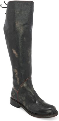 Bed Stu Tall Wide Calf Lace-Back Boots - Manchester