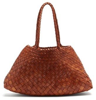 DRAGON DIFFUSION Santa Croce Large Woven-leather Basket Bag - Tan