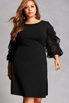 Forever 21 FOREVER 21+ Plus Size Ruffle-Sleeve Dress