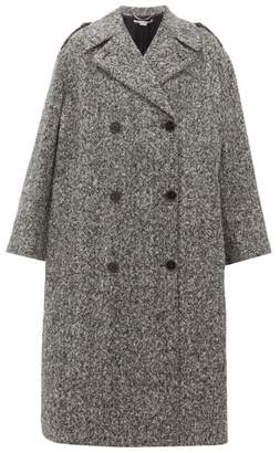 Stella McCartney Flecked Wool Double-breasted Coat - Womens - Black White