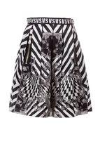 Versus Optical Floral Print Skirt