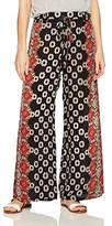 Angie Women's Wide Leg Printed Pant with Tassel