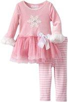 Bonnie Baby Baby-Girls Infant Snowflake Applique Tutu Legging